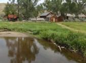 A farmstead in the Bannack City historic site.