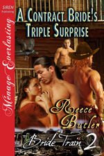 Cover for A Contract Bride's Triple Surprise