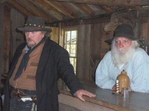 Judge Thatcher and Walt Chamberlain in Baldy's Saloon