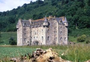 Where Fiona grew up, Castle Menzies in Weem, near Aberfeldy