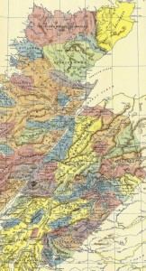 Map used in Highland Menage series, from Acts of Parliament  1587 & 1594