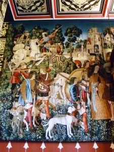 Unicorn tapestry (replica) at Stirling Castle