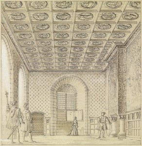 King's Presence Chamber, drawing by Geoffray Hay