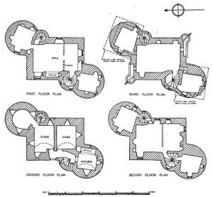 Floor plan of Claypotts/ Calltuin Castle