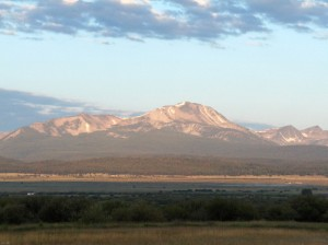 Early morning view from MacDougal ranch, across the valley, photo by Reece Butler, 2010