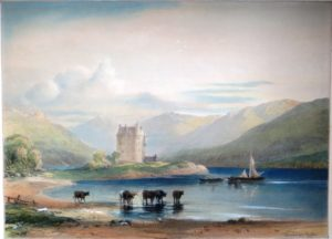Dunderawe castle painting