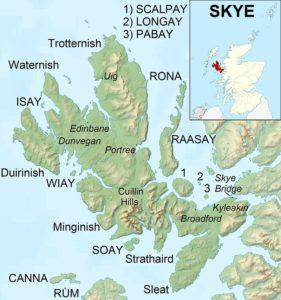map, Isle of Skye